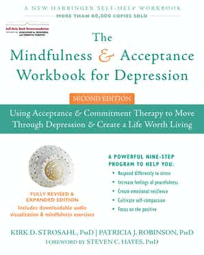 The Mindfulness & Acceptance Workbook for Depression Book Cover